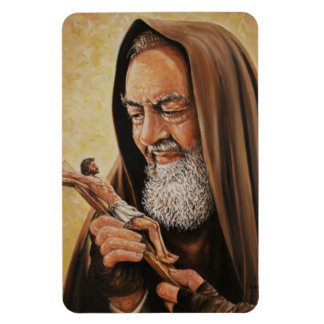 St. Padre Pio with Crucifix  Refrigerator/Car Magnet