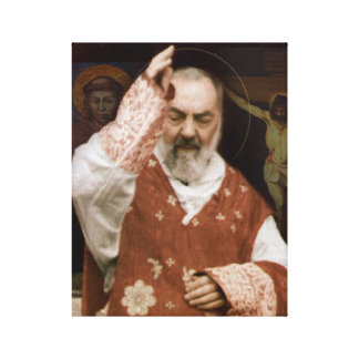 St.Padre Pio's Blessing. Devotional Image. Canvas Print