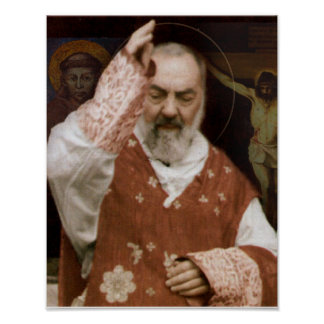 St.Padre Pio's Blessing. Poster
