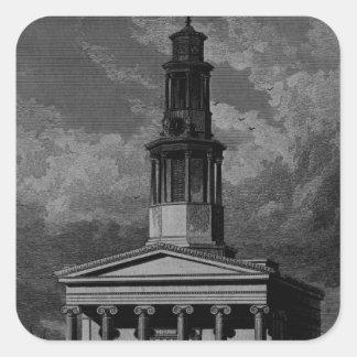 St. Pancrass Church, West Front Square Sticker