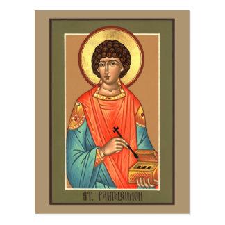 St. Panteleimon Prayer Card Postcard