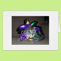 ST. PARTICK'S DAY CAT IN FULL COSTUME CARD