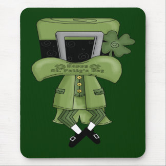 St Pat Lost in his hat Mouse Pad