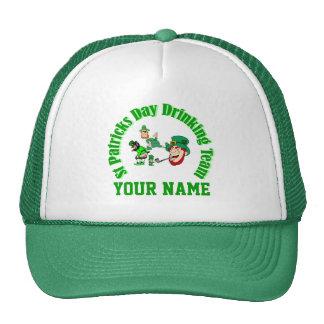St Patrck's day drinking team Trucker Hats