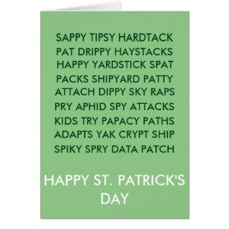 St. Patrick Anagram card
