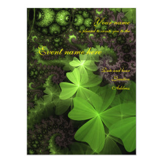 St Patrick Clover Background Card