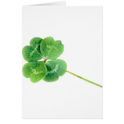 St Patrick- Clover Greeting Card