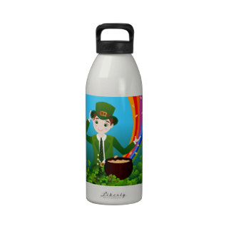 St. Patrick Day Boy Reusable Water Bottles