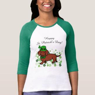 St. Patrick Day Dachshund Cartoon 2 T-shirts