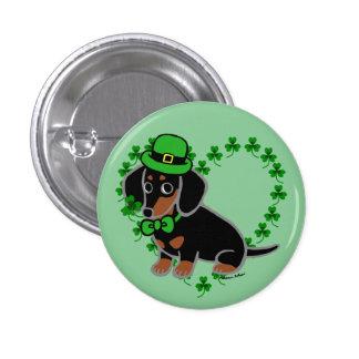 St. Patrick Day Dachshund Cartoon 3 Pinback Button