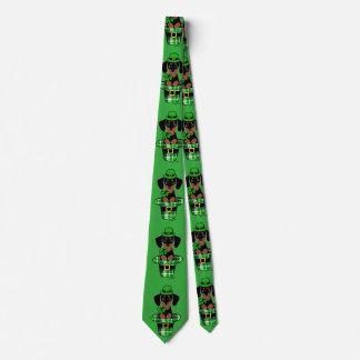 St. Patrick Day Dachshund Cartoon 4 Neck Tie