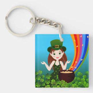 St Patrick Day girl Key Chains