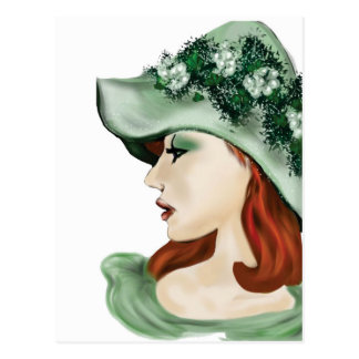 St. Patrick Day Irish lass lilyzm 2.jpg Postcard
