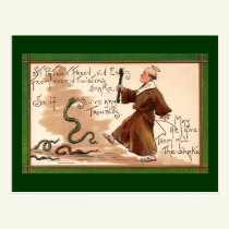 St Patrick Driving Away Snakes Postcard