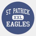 St Patrick Eagles Cedar Rapids medios Iowa Pegatina Redonda