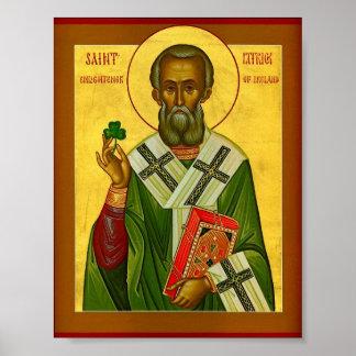 St Patrick Enlightener de Irlanda Póster