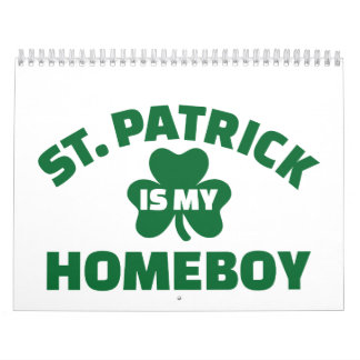 St Patrick es mi homeboy Calendario De Pared