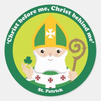 St Patrick Etiqueta Redonda