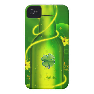 St. Patrick Green Beer Bottle Backberry Bold Case iPhone 4 Case