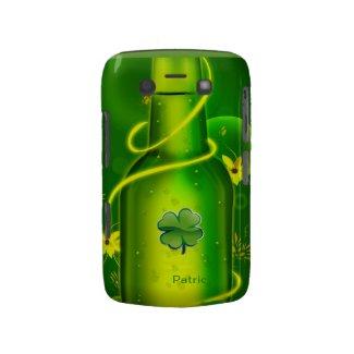 St. Patrick Green Beer Bottle Backberry Bold Case Blackberry Bold Cases