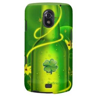St. Patrick Green Beer Bottle Samsung Nexus Case Galaxy Nexus Cover
