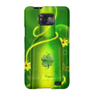 St. Patrick Green Beer Bottle Samsung S2 Case Galaxy S2 Covers
