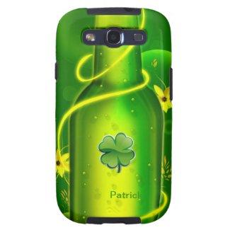 St. Patrick Green Beer Bottle Samsung S3 Case