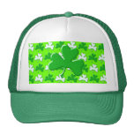 St Patrick Ireland Shamrock Pattern Design Trucker Hat