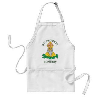 St. Patrick Is My Homeboy Adult Apron