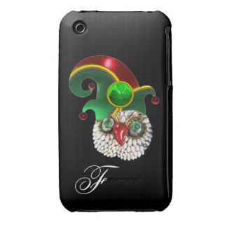 ST PATRICK JEWEL OWL AND  ELF HAT WITH SHAMROCK Case-Mate iPhone 3 CASE