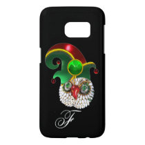 ST PATRICK JEWEL OWL AND  ELF HAT WITH SHAMROCK SAMSUNG GALAXY S7 CASE