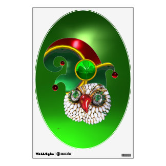 ST PATRICK JEWEL OWL AND  ELF HAT WITH SHAMROCK WALL DECAL