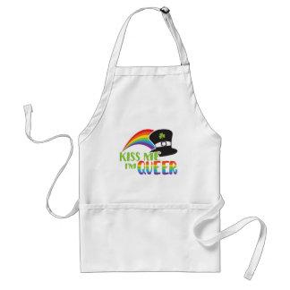 St Patrick Kiss Me I'm Queer LGBT Pride Adult Apron