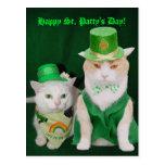 St. Patrick Kitties Postcard