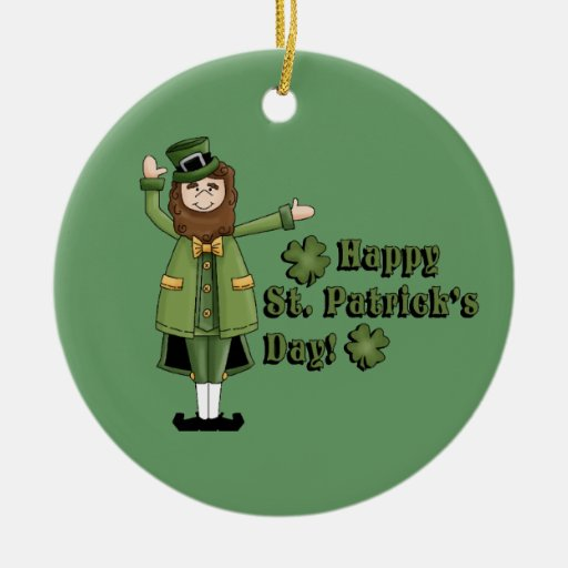 St Patrick le desea un día feliz de las palmaditas Adornos De Navidad