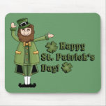 St Patrick le desea un día feliz de las palmaditas Alfombrilla De Ratón