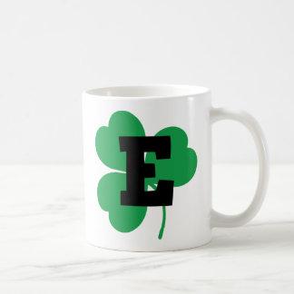 St Patrick Letter E Alphabet Coffee Mug