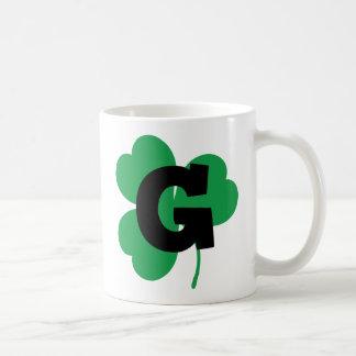 St Patrick Letter G Alphabet Coffee Mug