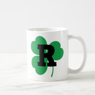 St Patrick Letter R Alphabet Coffee Mugs