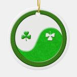 St Patrick Meets Taoism Yin Yang Ornaments