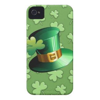 St Patrick Paddy Hat and Shamrock BlackBerry Case