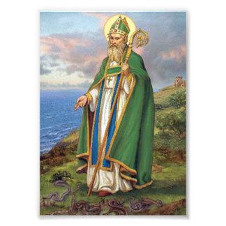 ST PATRICK, PATRON SAINT OF IRELAND. PHOTO PRINT