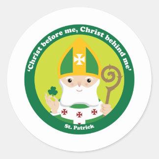 St Patrick Pegatina Redonda