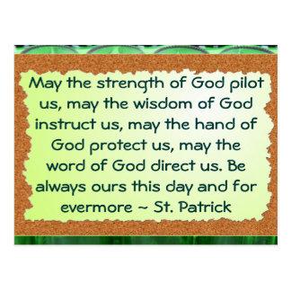 St Patrick postcard