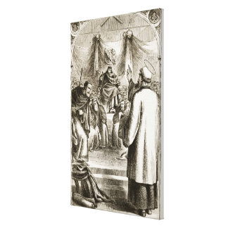 St. Patrick preaching at Tara, from 'The Trias Thu Stretched Canvas Print
