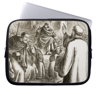 St. Patrick preaching at Tara, from 'The Trias Thu Laptop Sleeve