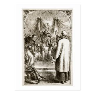 St. Patrick preaching at Tara, from 'The Trias Thu Post Card