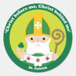 St. Patrick Round Sticker