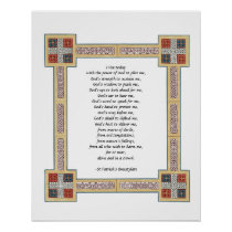 St. Patrick's Breastplate Prayer with Celtic Knots