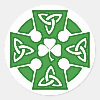 St Patrick s Celtic cross Round Sticker